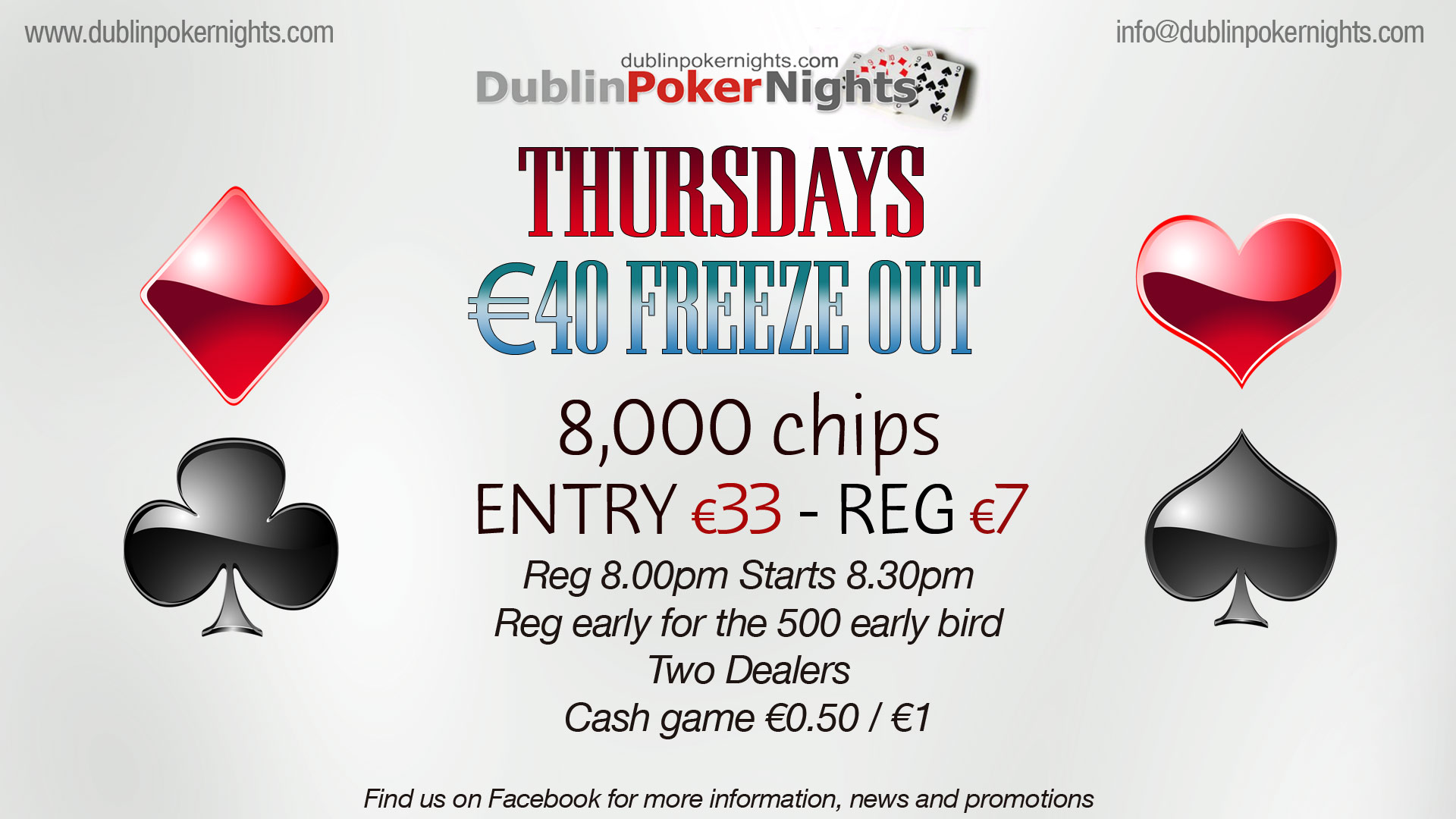 Poker Nights at The Bell Pub Blanchardstown