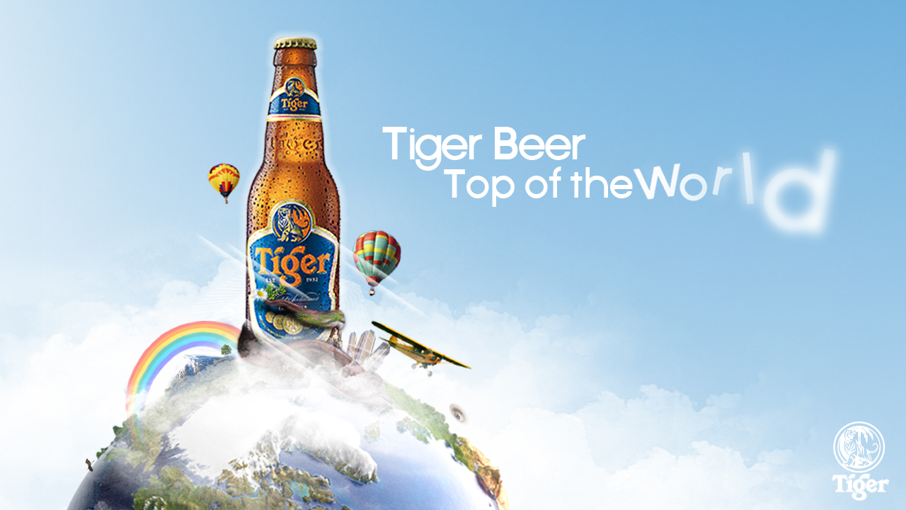 Tiger Beer Banner at The Bell